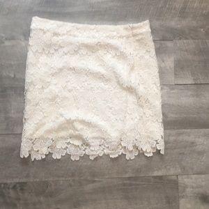 Forever 21 white lace dress skirt - size medium
